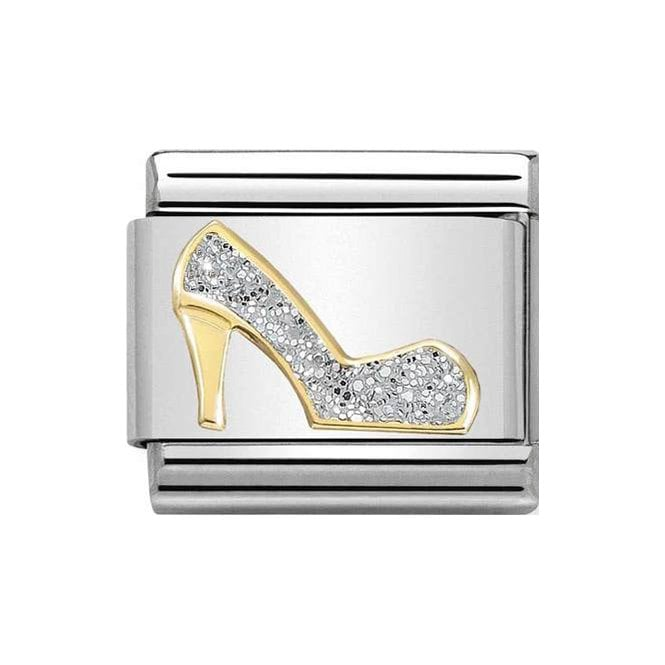Nomination Classic Charm - Gold and Silver Glitter Shoe