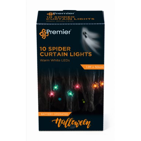 Halloween Spider LED Curtain Lights