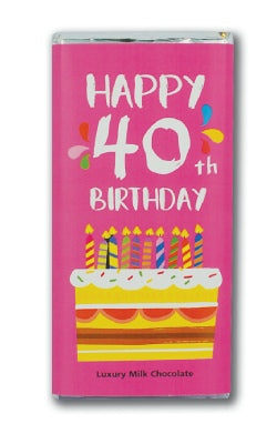 Happy 40th Chocolate Bar