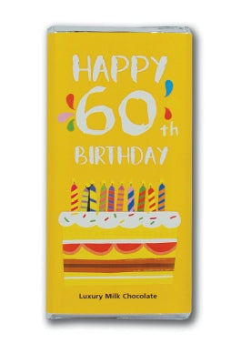 Happy 60th Chocolate Bar