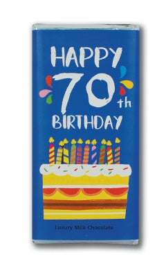 Happy 70th Chocolate Bar