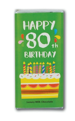Happy 80th Chocolate Bar