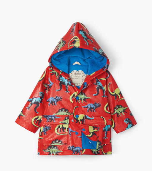 Hatley Painted Dinos Colour Changing Baby Raincoat