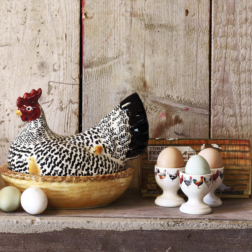 Emma Bridgewater Black Toast Silver Large Hen on Nest Boxed