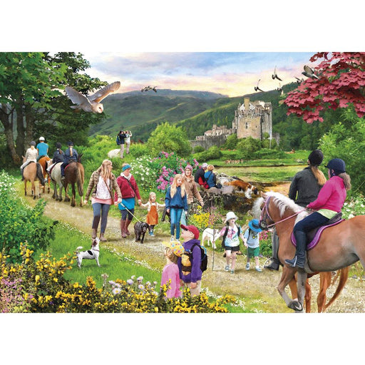Gibsons Highland Hike 1000pc Jigsaw Puzzle