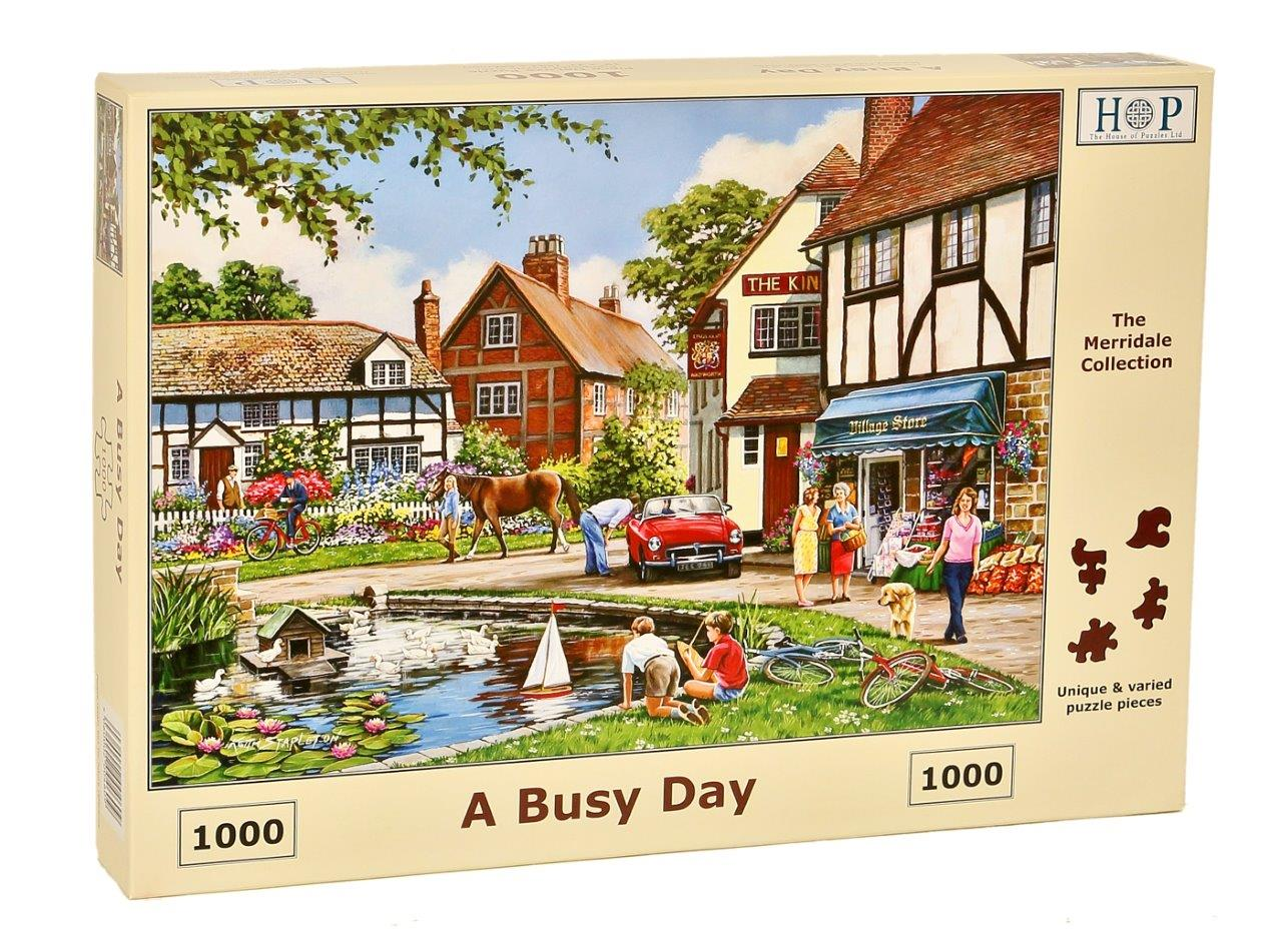 HOP A Busy Day 1000 Piece Jigsaw Puzzle
