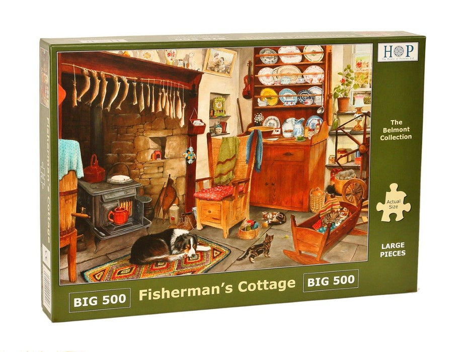 HOP Fisherman's Cottage Big 500 Piece Jigsaw Puzzle