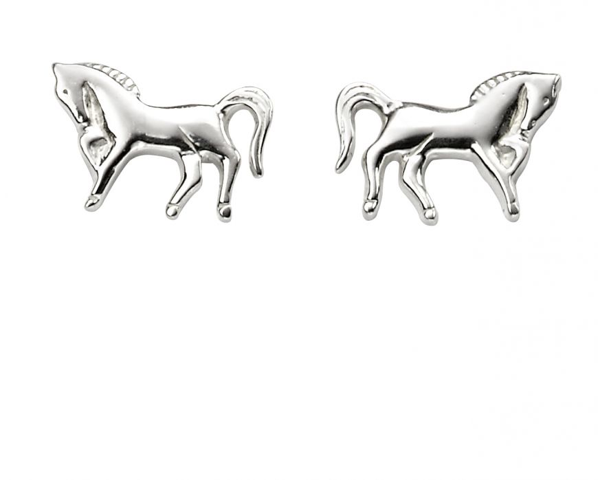Sterling Silver Animal Earrings Horse