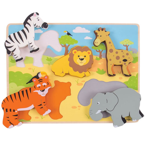 Bigjigs Chunky Lift Out Puzzle (Safari)