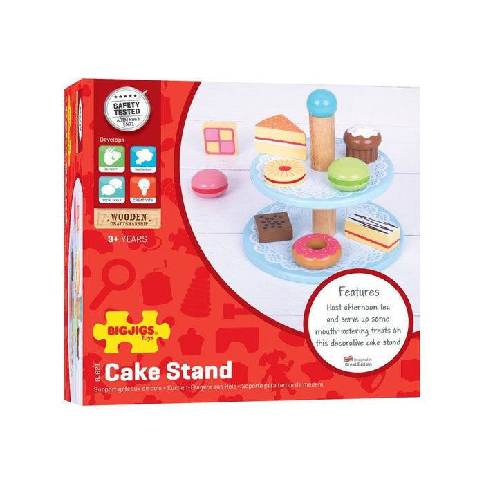 Bigjigs Cake Stand With 9 Cakes