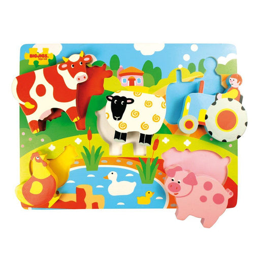 Bigjigs Chunky Lift Out Puzzle (Farm)