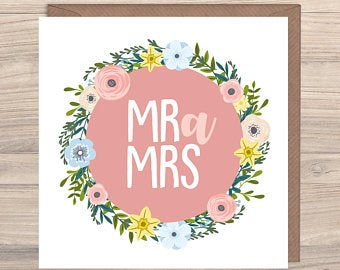 Max Rocks Designs Mr a Mrs - Mr and Mrs Welsh Wedding Card