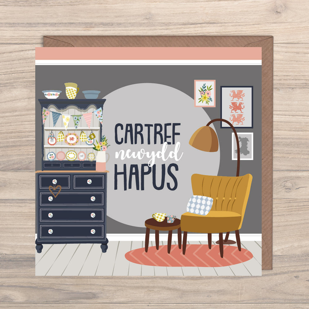 Max Rocks Designs Cartref Newydd Hapus - Happy New Home Card