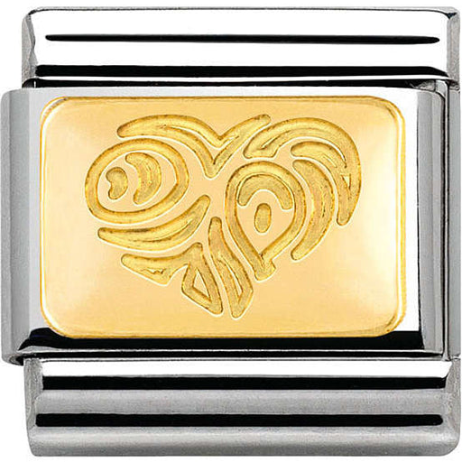 Nomination Classic Gold Charm - Interlacing Hearts Plate
