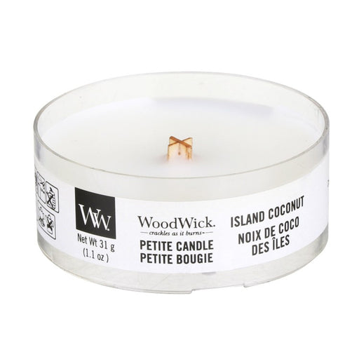 Woodwick Island Coconut Petite Candle