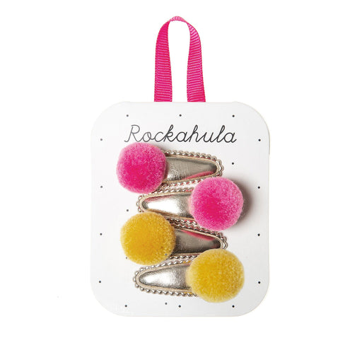 Rockahula Mini Pom Pom Clips Yellow