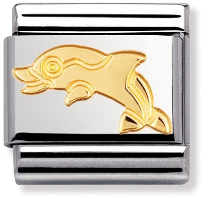 Nomination Classic Gold Charm - Dolphin
