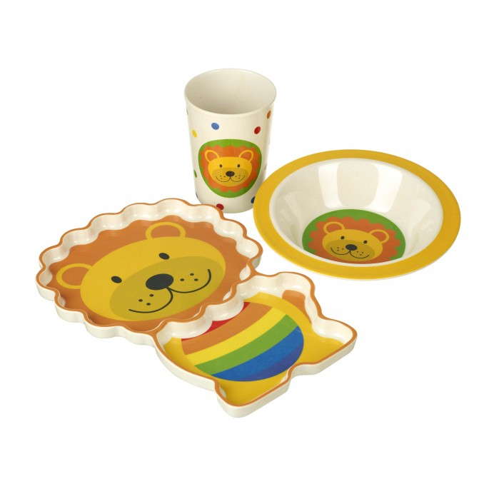 Orange Tree Lion Bamboo Dinner Set
