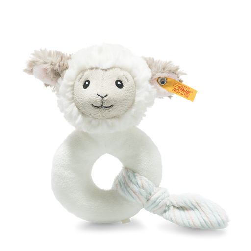 Steiff Lita Lamb Grip Toy with Rattle