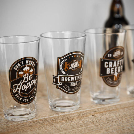 Brewmaster Set Of 4 Beer Glasses In A Gift Box