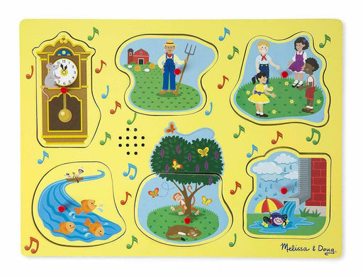Melissa and Doug Sing-Along Nursery Rhymes Sound Puzzle