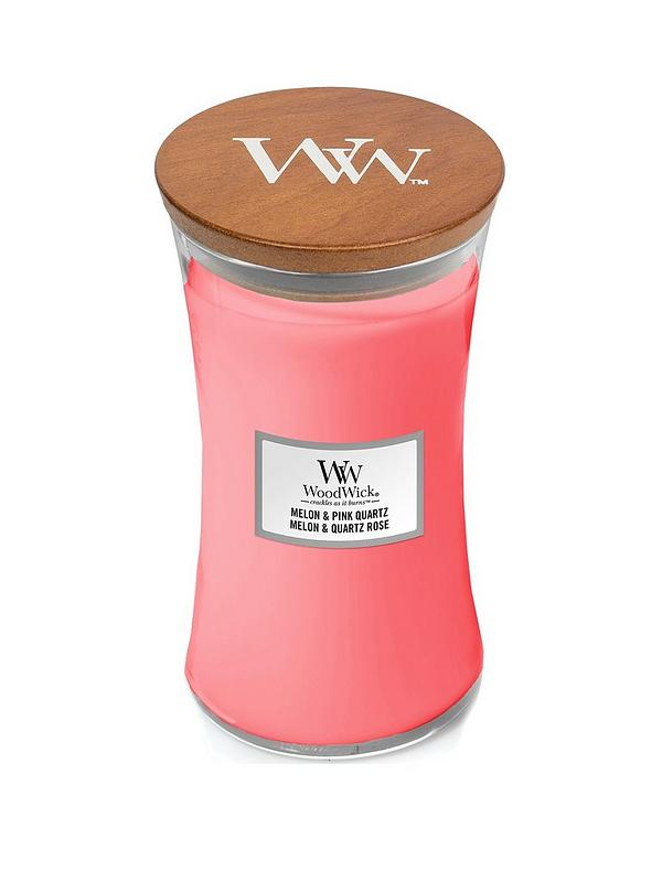 Woodwick Melon and Pink Quartz Large Jar Candle