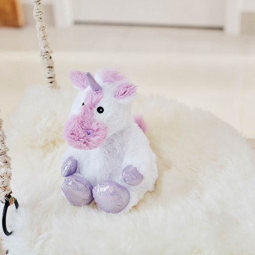 "Warmies® Large 13"" White Unicorn"