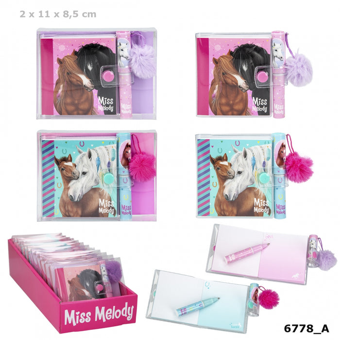 Miss Melody Mini Notebook with Ballpen