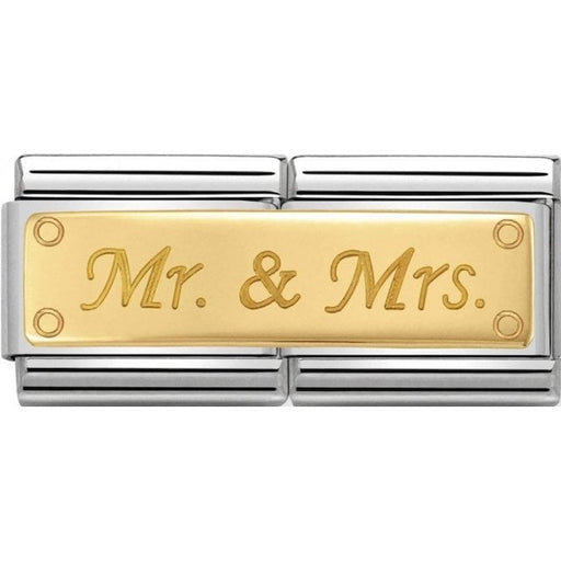 Nomination Classic Gold Double Charm - Mr and Mrs