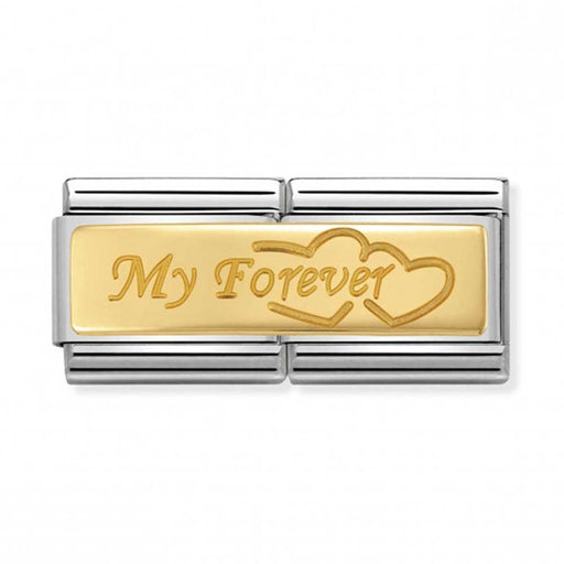 Nomination Classic Gold Double Charm - My Forever
