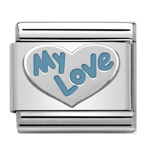 Nomination Classic Charm - My Love Heart Blue