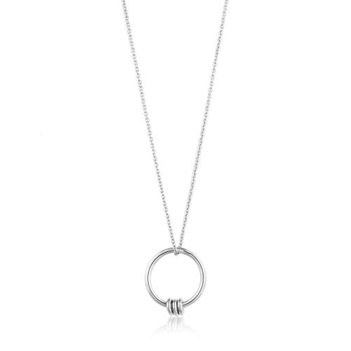 Ania Haie Modern Circle Silver Necklace