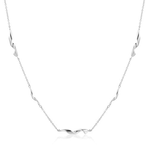 Ania Haie Twister Helix Silver Necklace