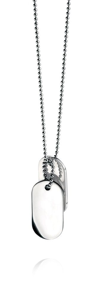 Fred Bennett Double Oval Dog Tag Pendant