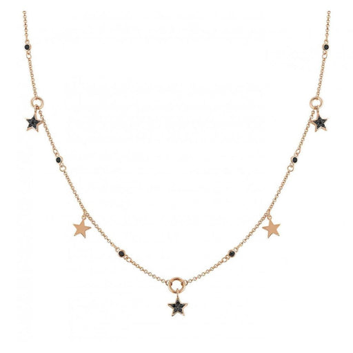 Nomination Nightdream Rose Gold Plated & Black CZ Stars Necklace