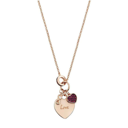 Nomination Easychic Rose Gold Plated & Red CZ Love Heart Necklace