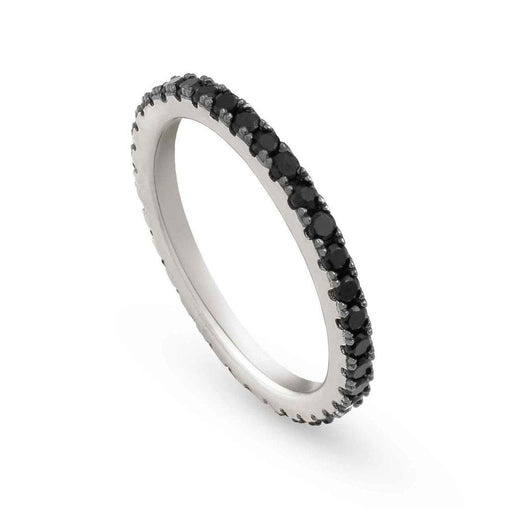 Nomination Easychic Silver & Black CZ Ring