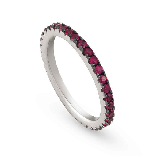 Nomination Easychic Silver & Red CZ Ring