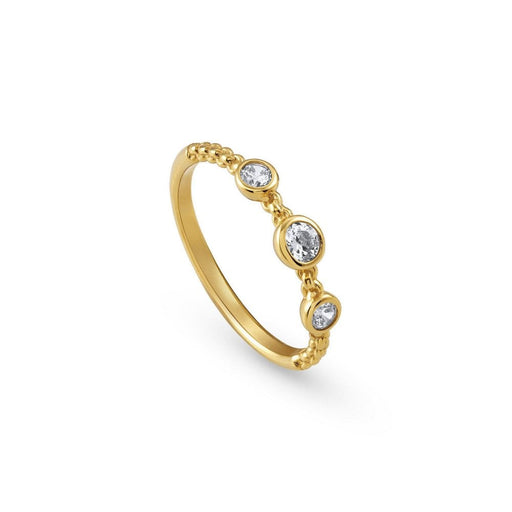 Nomination Bella Gold Plated Triple Stone Ring