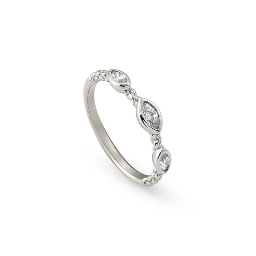 Nomination Bella Silver Triple Oval Stone Ring