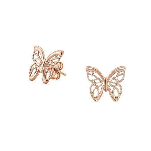 Nomination Primavera Rose Gold Plated Butterfly Stud Earrings
