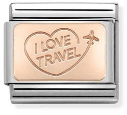 Nomination Classic Charm - Rose Gold I Love Travel