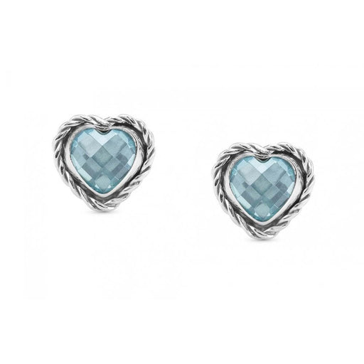 Nomination Silver & Light Blue CZ Heart Earrings
