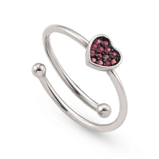 Nomination Sweetrock Silver & Red CZ Heart Ring