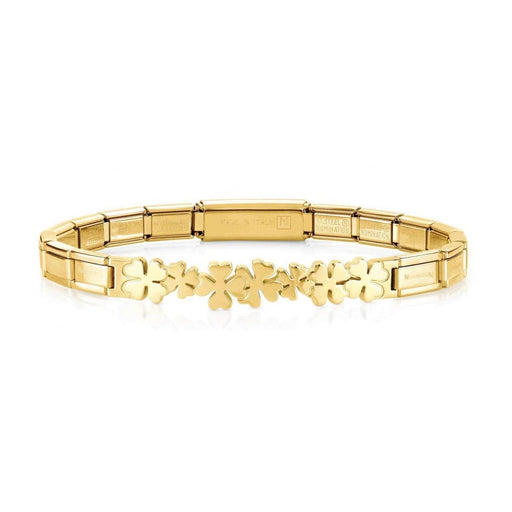 Nomination Trendsetter Yellow Gold PVD Clovers Smarty Bracelet
