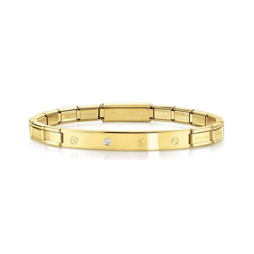 Nomination Trendsetter Yellow Gold Screws & CZ Smarty Bracelet