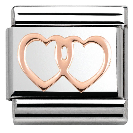 Nomination Classic Rose Gold Double Heart
