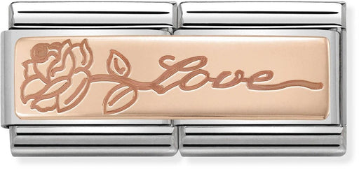 Nomination Classic Double Rose Gold Love