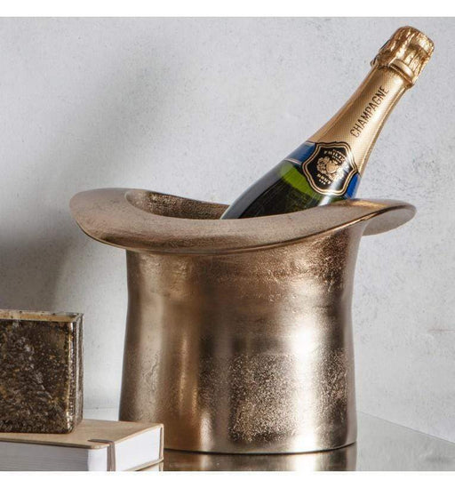 Gold Wine Cooler Top Hat