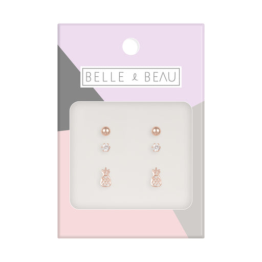 Belle & Beau Pineapple Earring Set